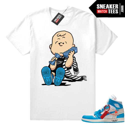 Off white Jordan 1 matching shirt
