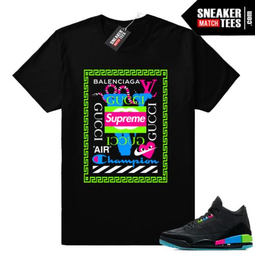 Air Jordan 3 Quai 54 matching luxury brands shirt