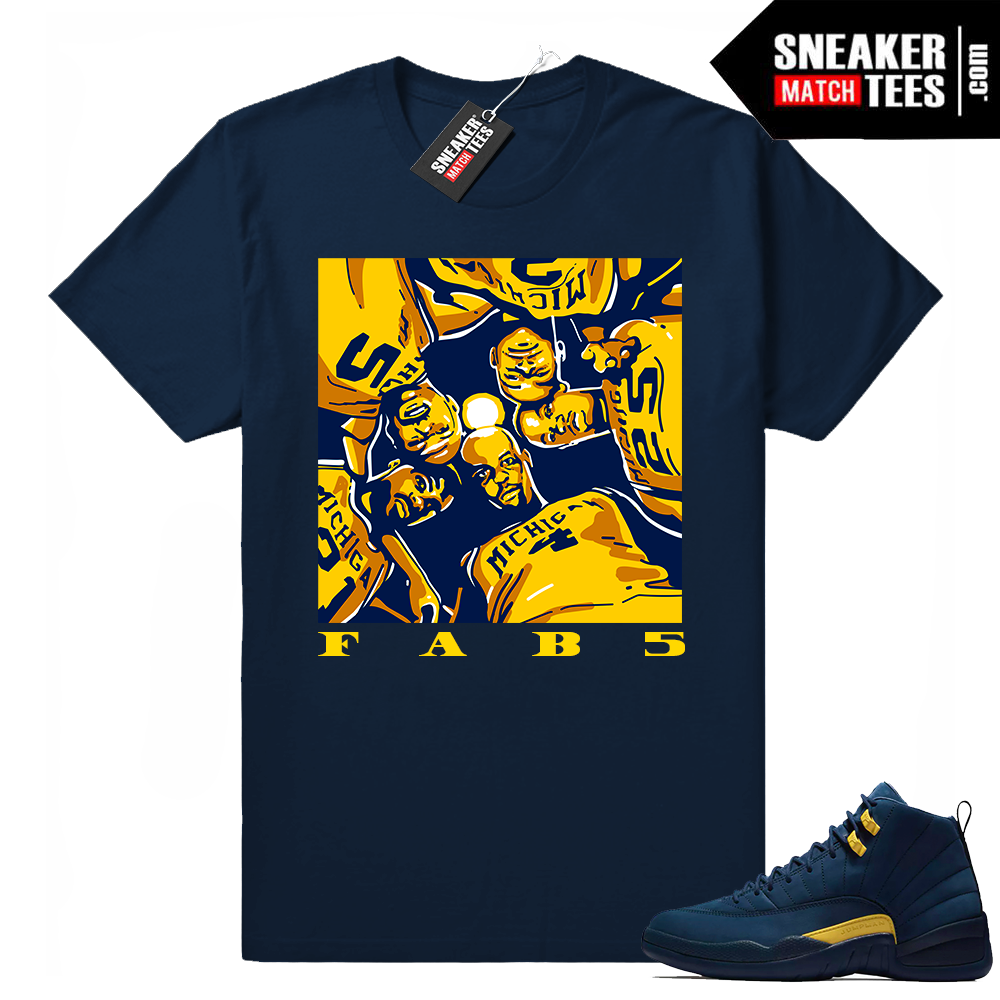 Fab 5 Michigan Huddle Shirt