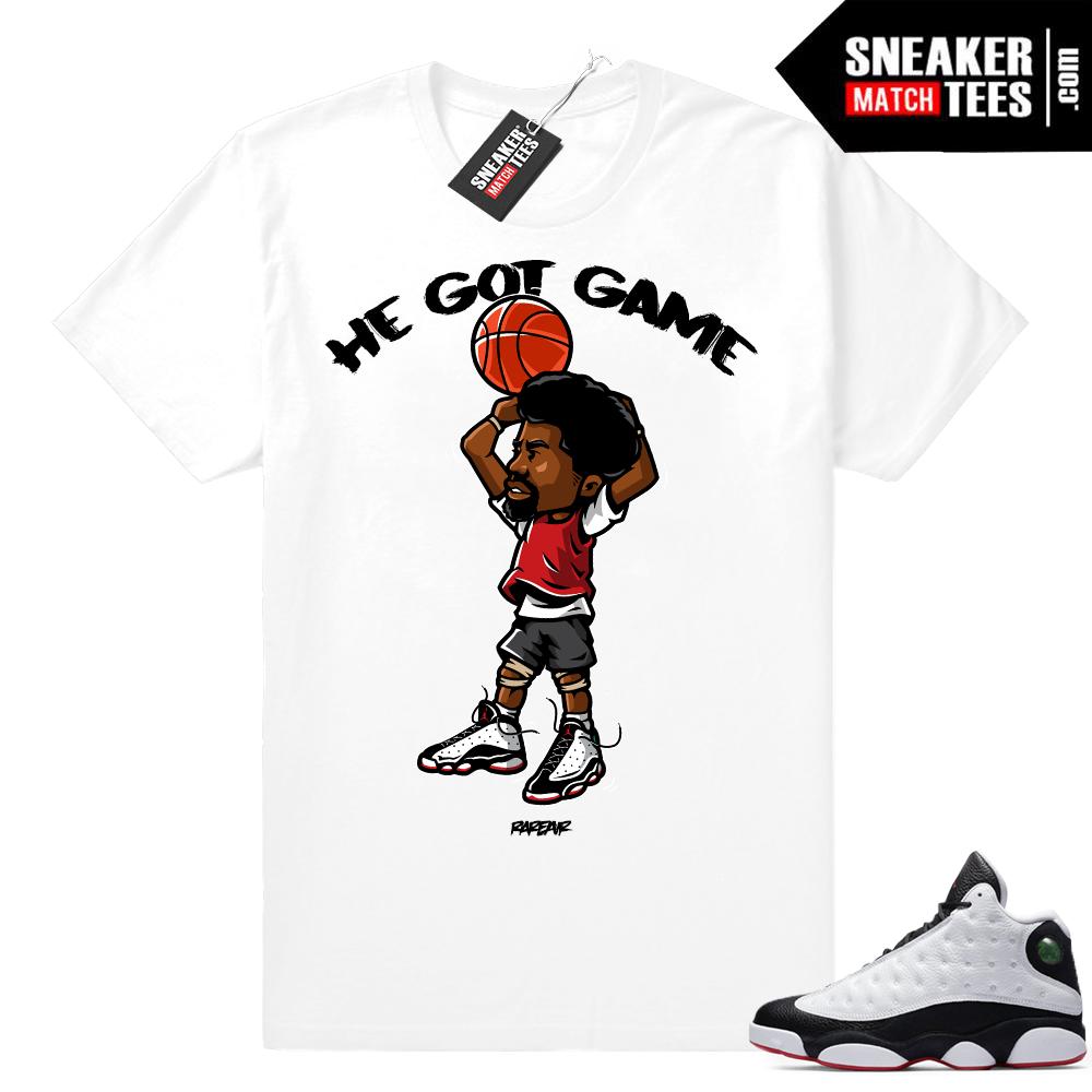 He Got Game 13 shirt match sneakers