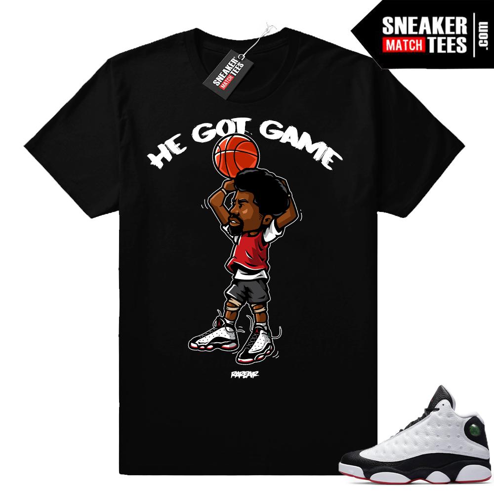 Jordan 13 He Got Game shirt match sneakers