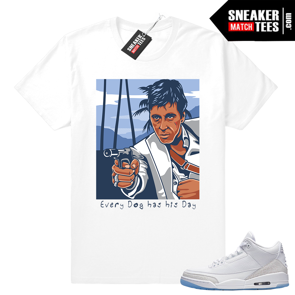 Jordan 3 Pure White Tee shirts
