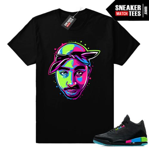 Jordan 3 Quai 54 2pac shirt
