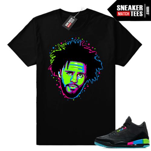 Jordan 3 Quai 54 J Cole shirt