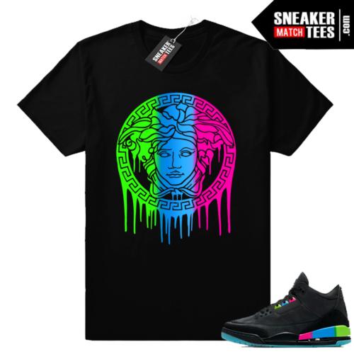 Jordan 3 Quai 54 Medusa Drip Shirt