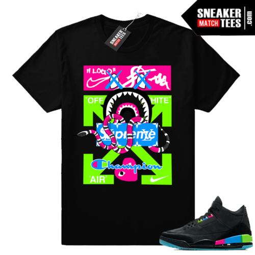 Jordan 3 Quai 54 brands mashup
