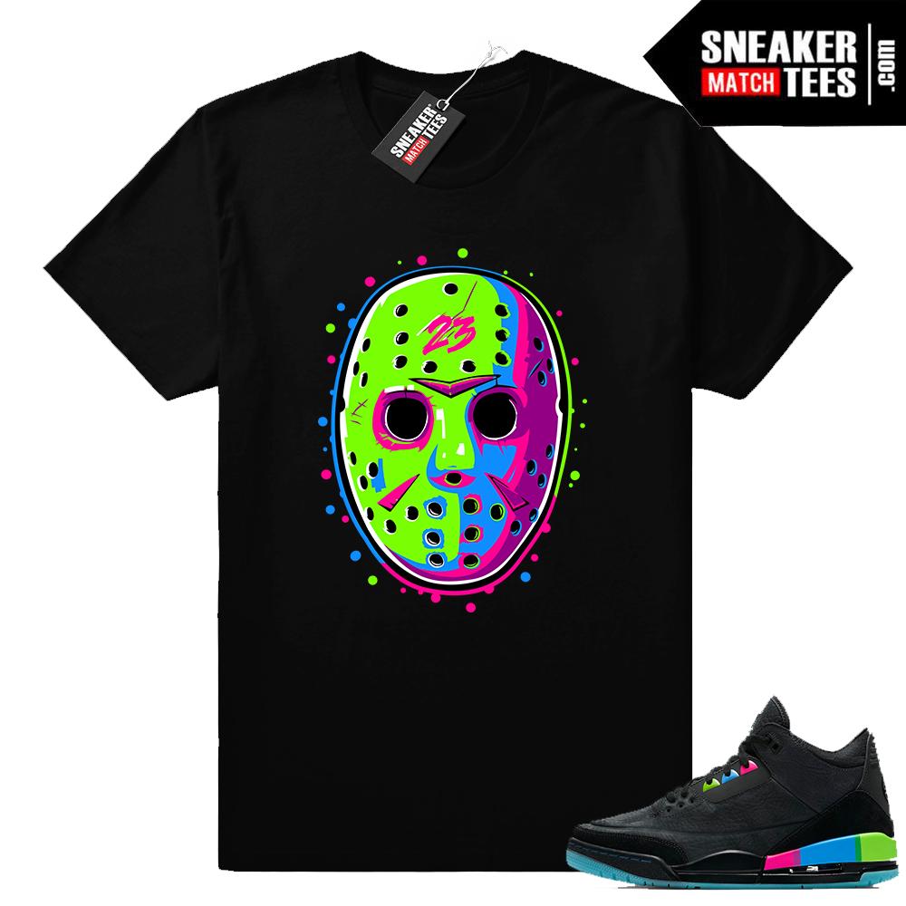 Jordan 3 Quai 54 matching shirt
