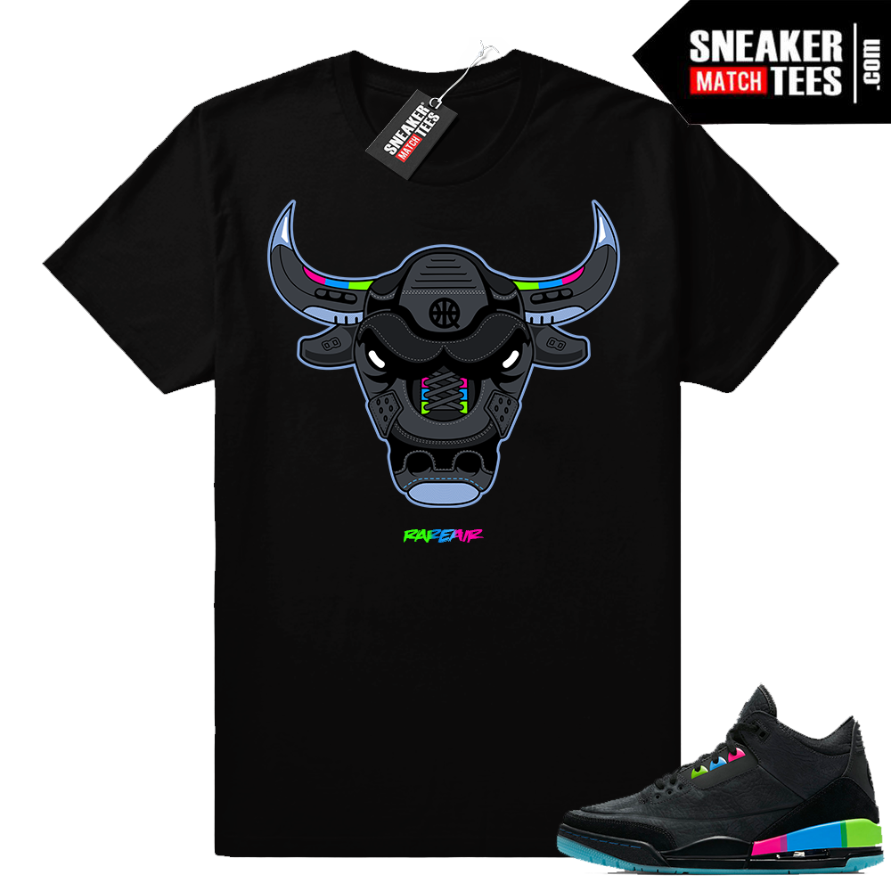Jordan 3 shirt match Quai 54 Rare Air Bull