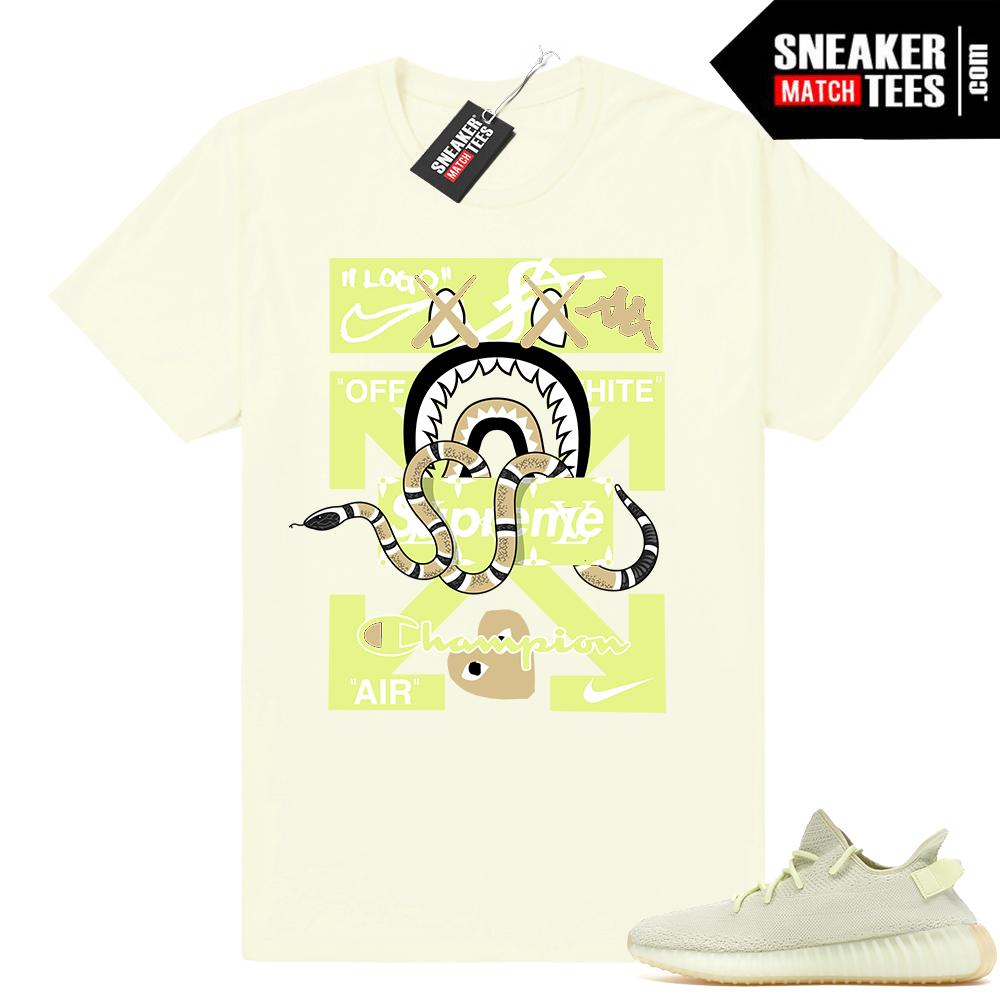 Yeezy Boost 350 Butter shirts