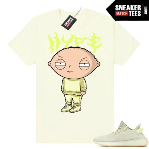 Yeezy Boost 350 V2 match butter shirt