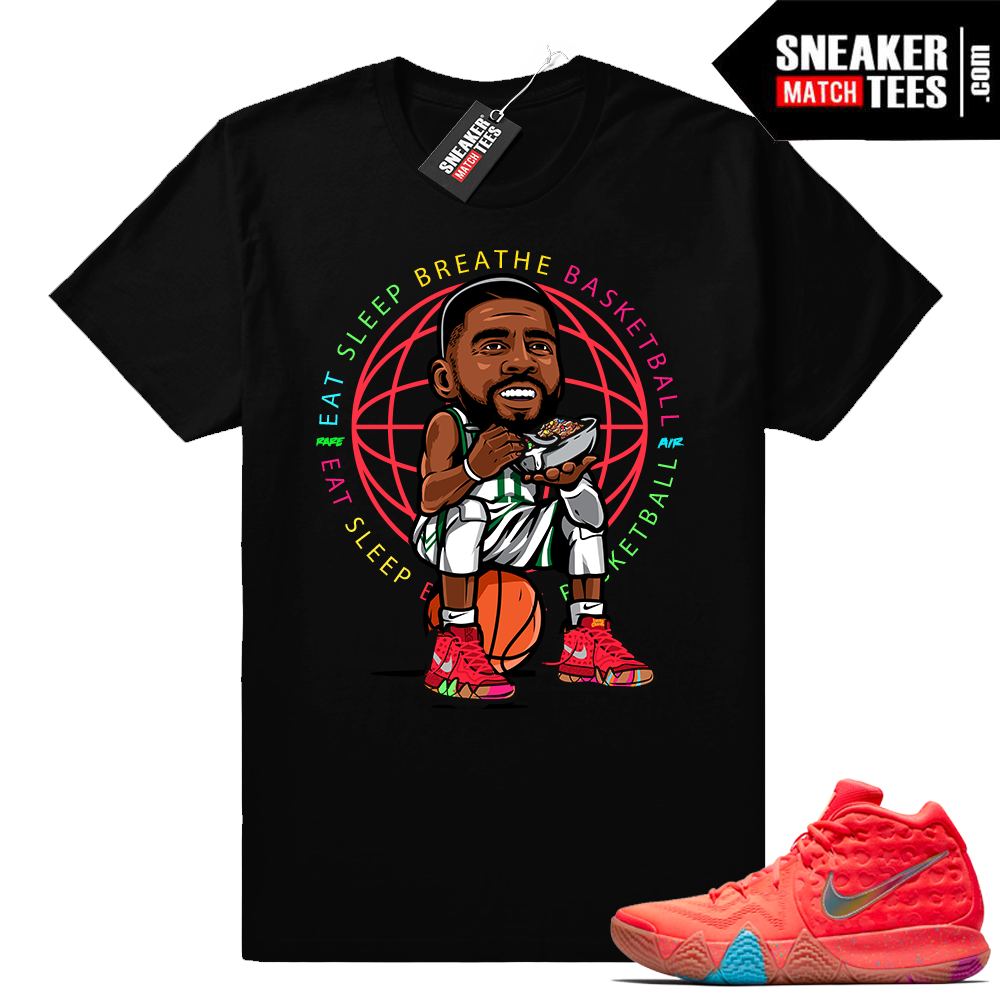 Eat Sleep Breathe Basketball Kyrie 4 Lucky Charms tee shirt