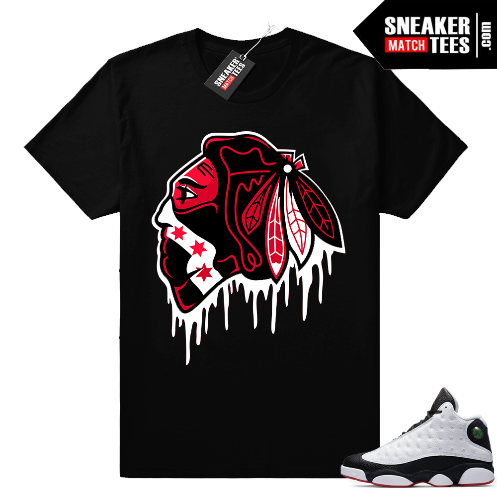 He got game 13 Black Hawks Drip t shirt