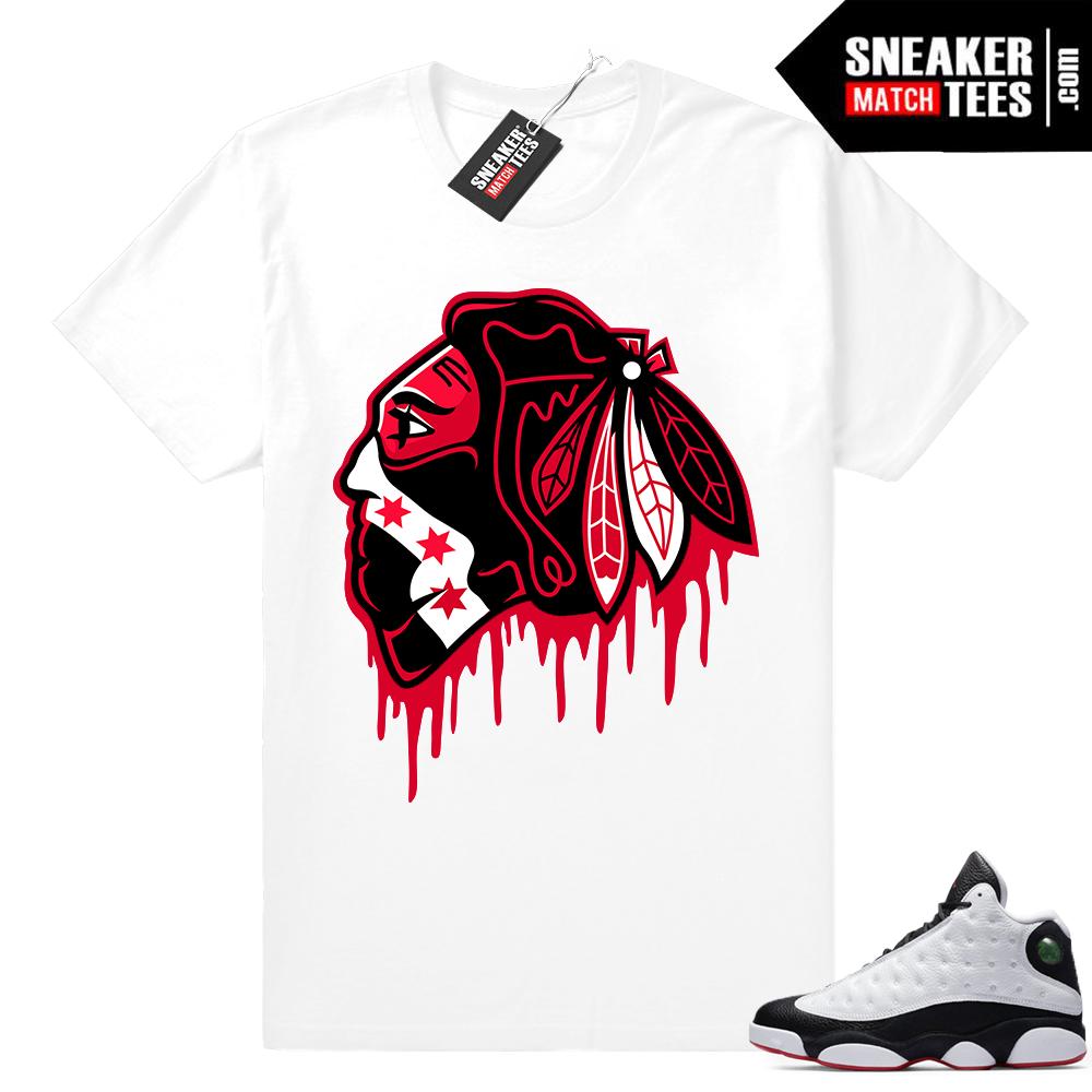 Jordan 13 He Got Game Black Hawks Drip shirt