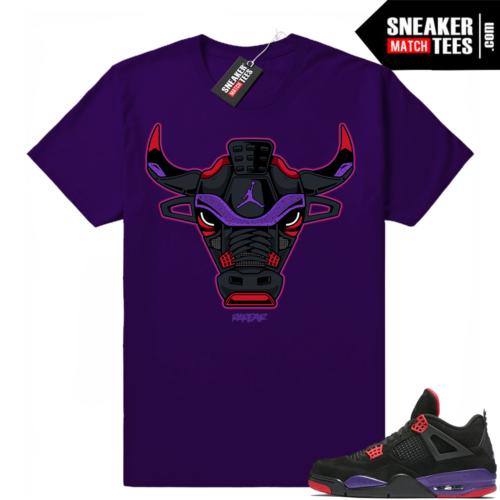 Jordan 4 Court Purple Sneaker tees match