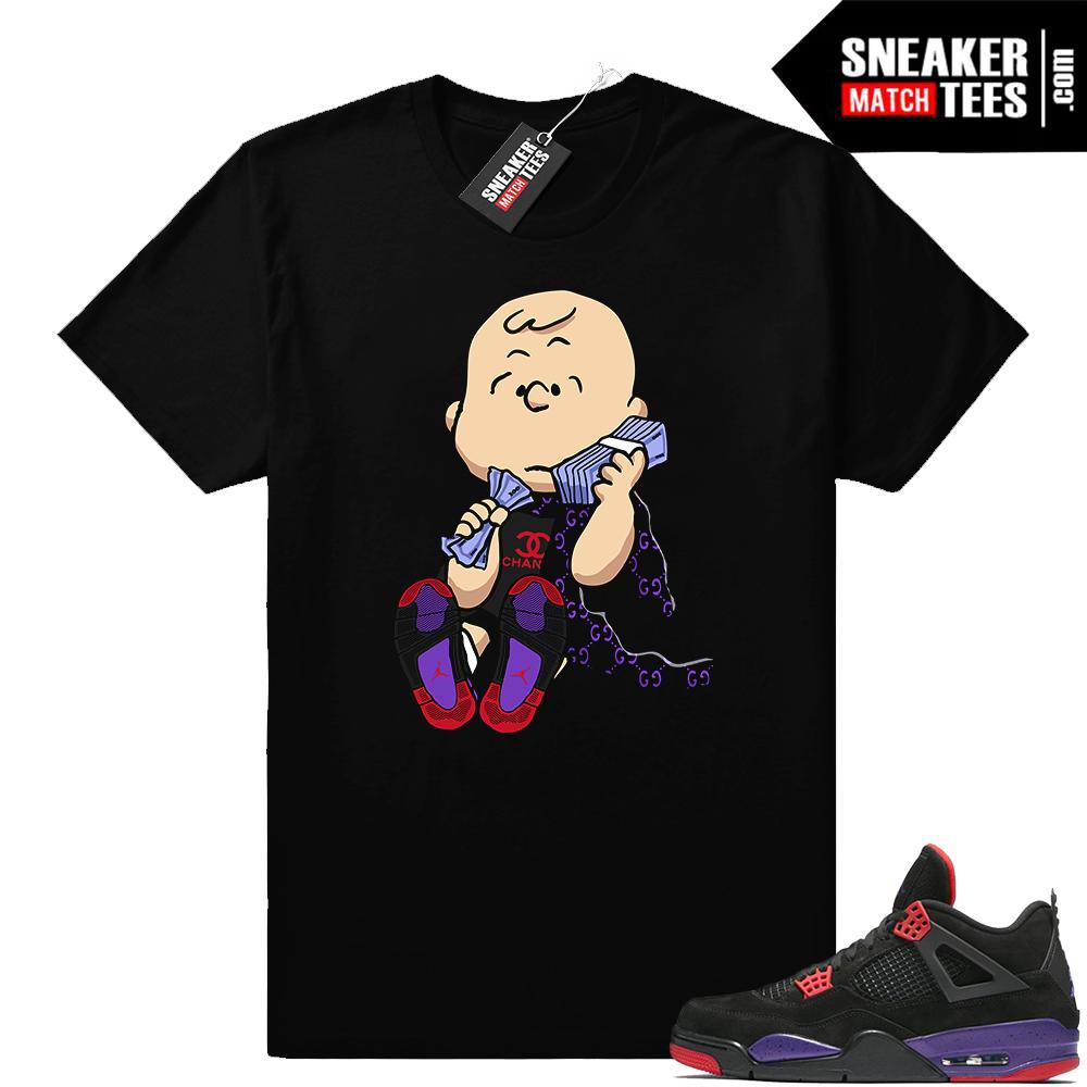 Jordan 4 Raptors Designer Van Pelt t shirt