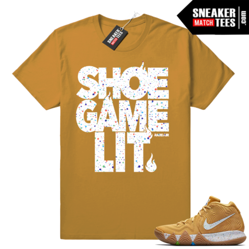 Kyrie 4 Cinnamon Toast Crunch Shoe Game lit shirt