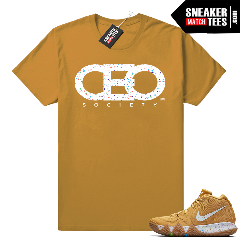 Kyrie 4 Cinnamon Toast Crunch match tee