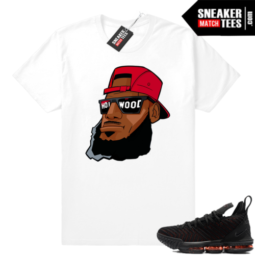 Lebron 16 Bred Hollywood Bron Shirt White