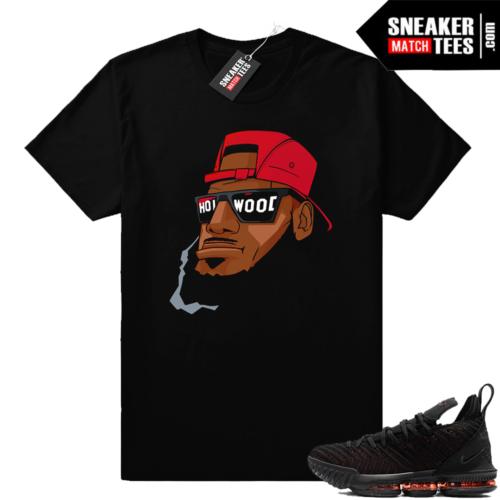 Lebron 16 Bred Hollywood Bron shirt
