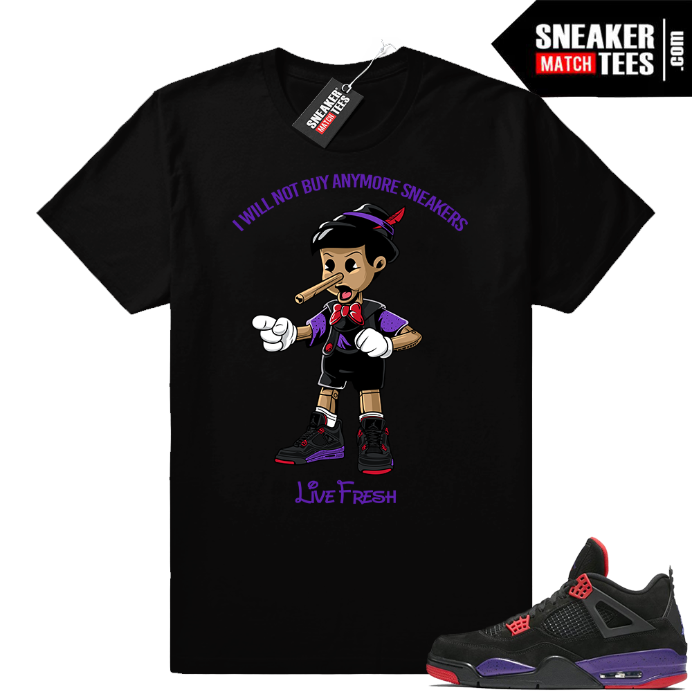 Sneakerhead Pinocchio Jordan 4 Raptors