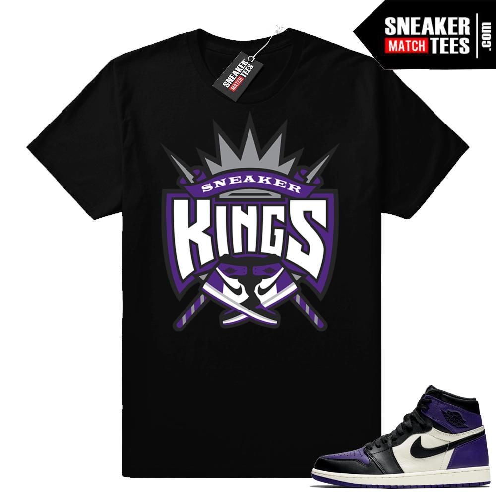 Air Jordan 1 Court Purple match shirt
