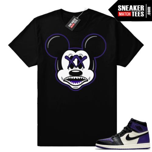 Air Jordan 1 Court Purple shirts