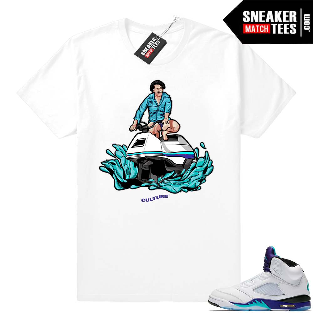 Air Jordan 5 Grape sneaker tees