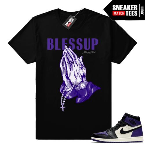 Bless up shirt Court Purple 1 match