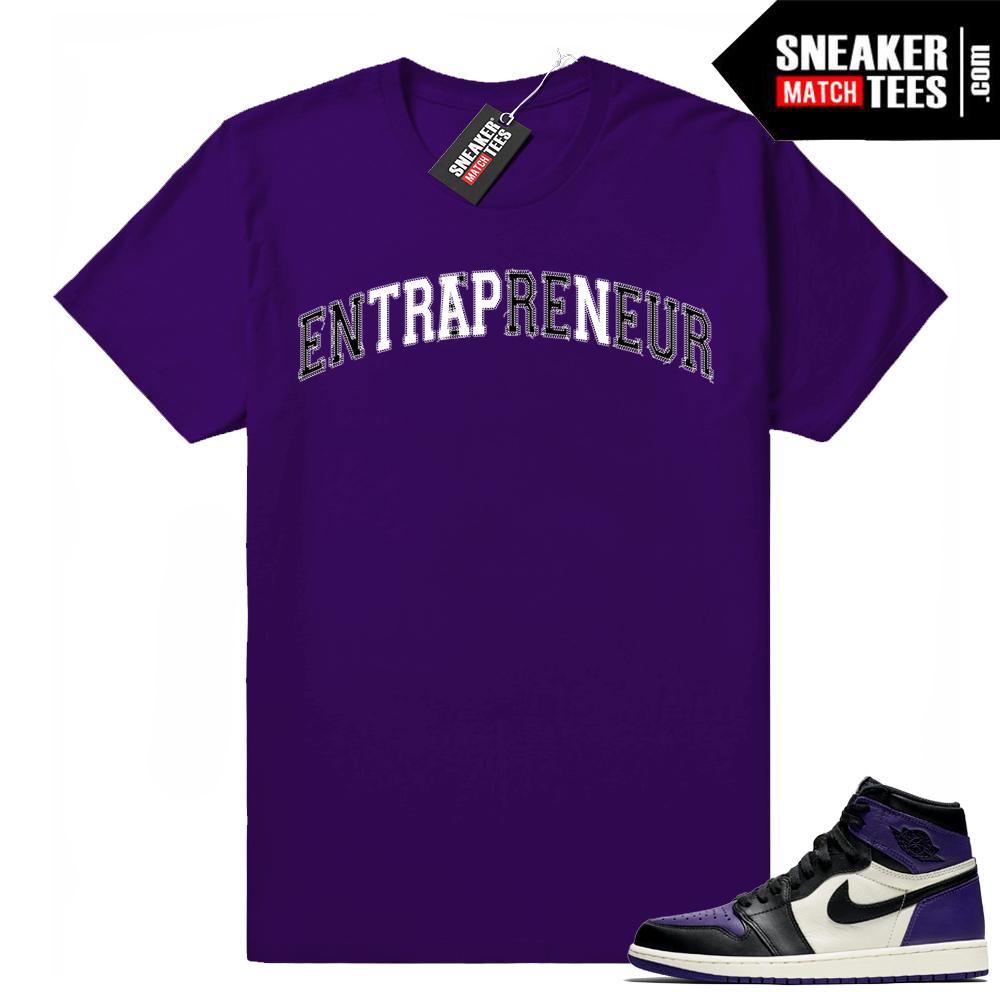Court Purple Jordan 1 tee shirt