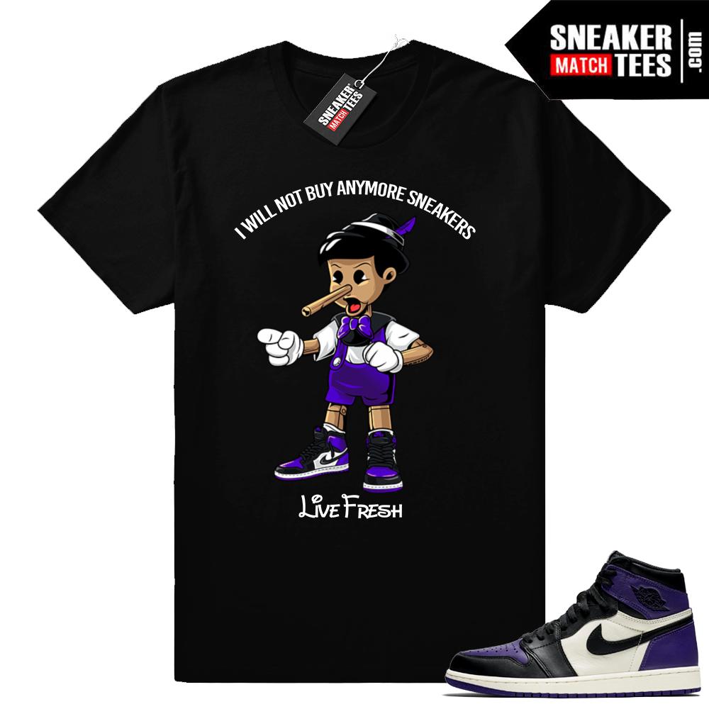Court Purple Jordan 1s shirt