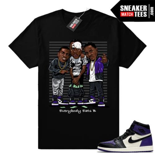 Court Purple Jordan retro 1 shirt