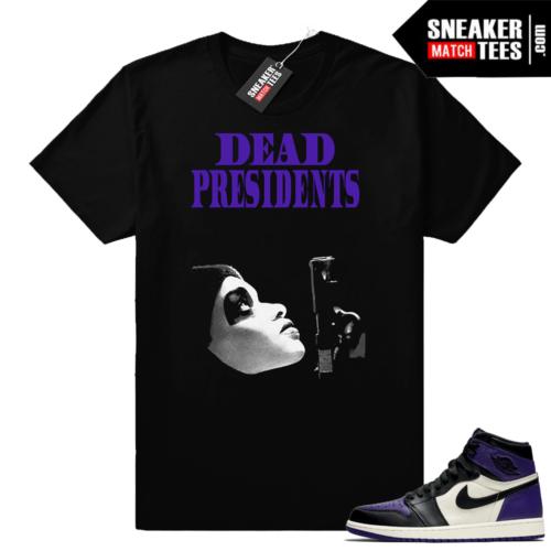 Dead Presidents Court Purple 1 shirt