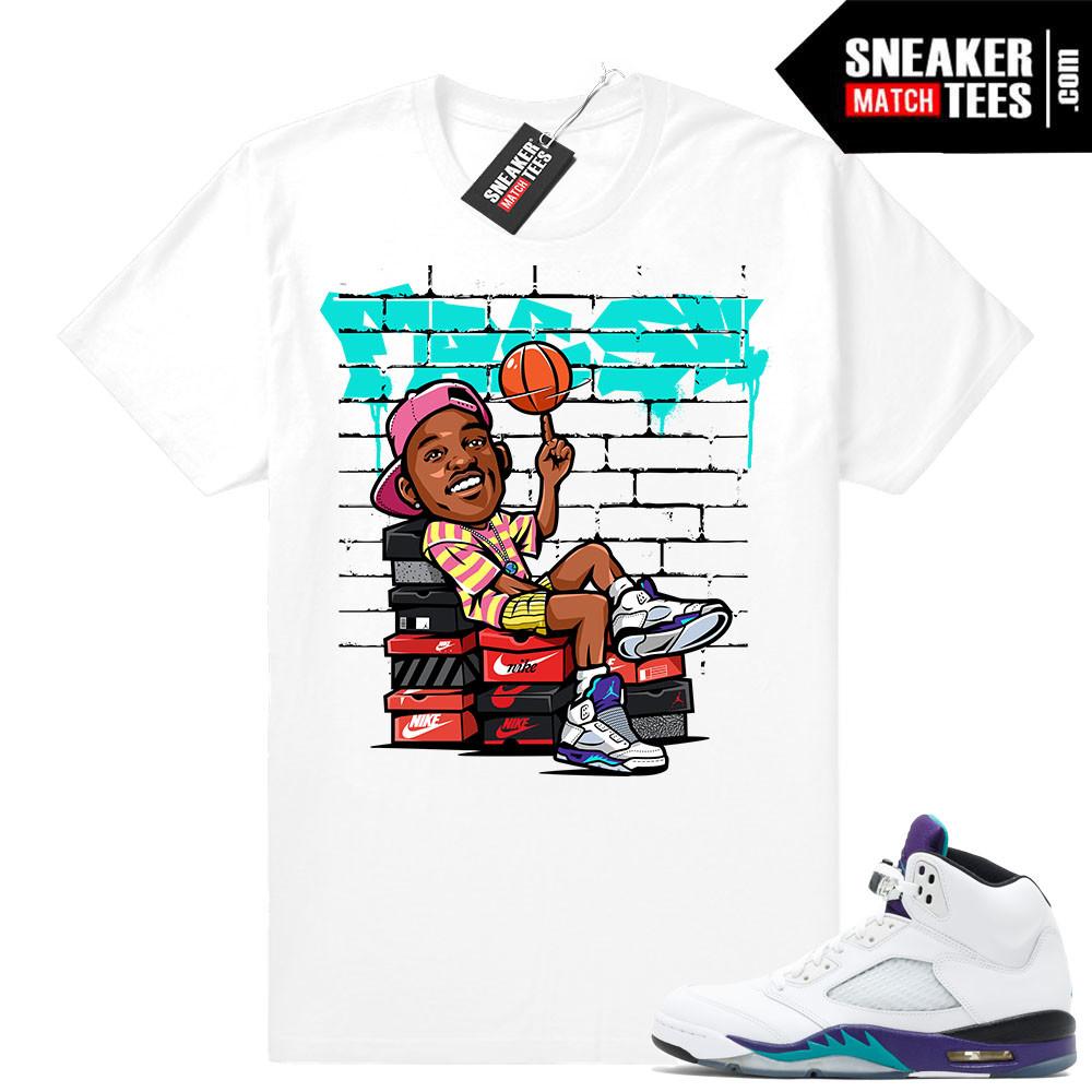 Grape 5s Matching t shirt Jordan retros