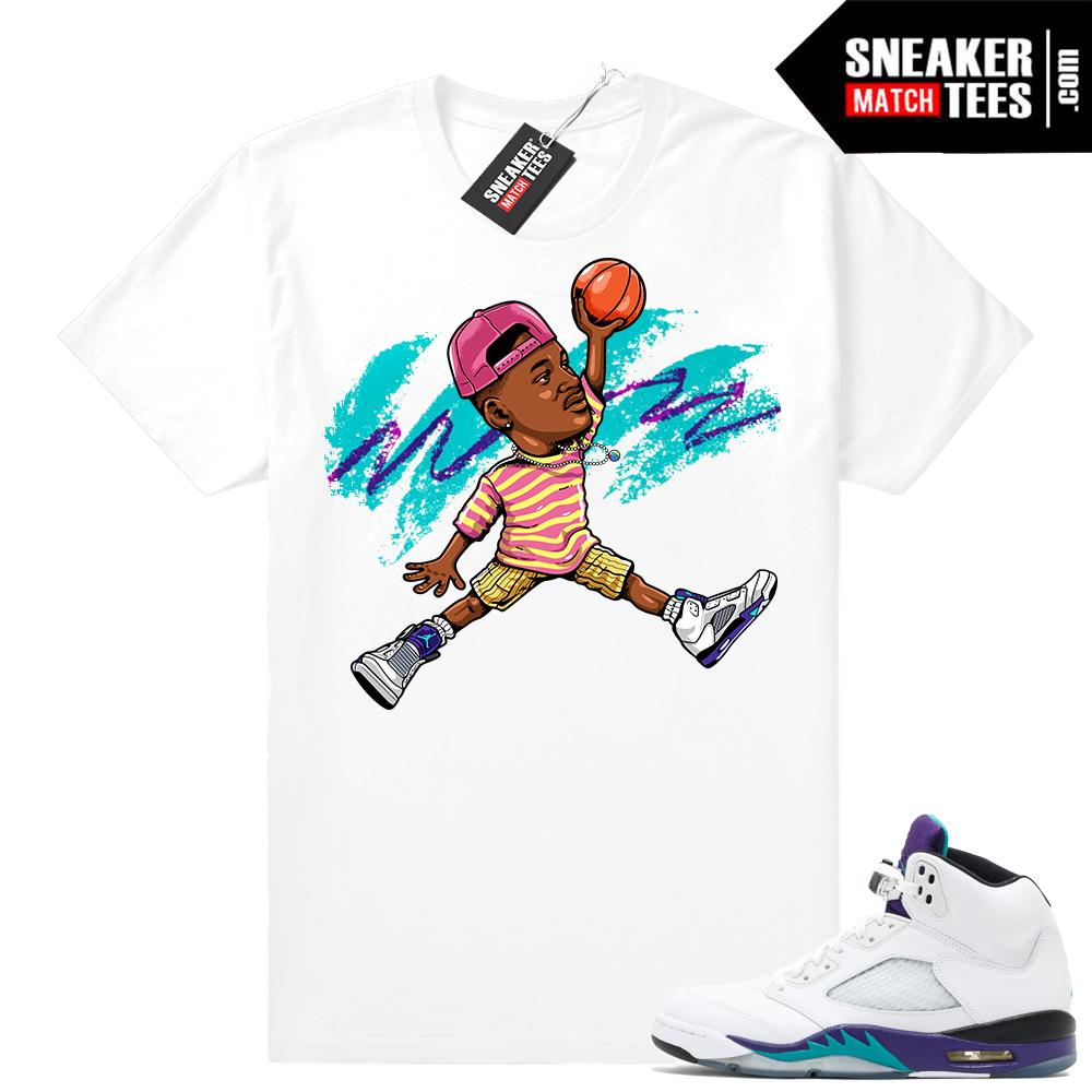 Grape 5s T shirt Matching