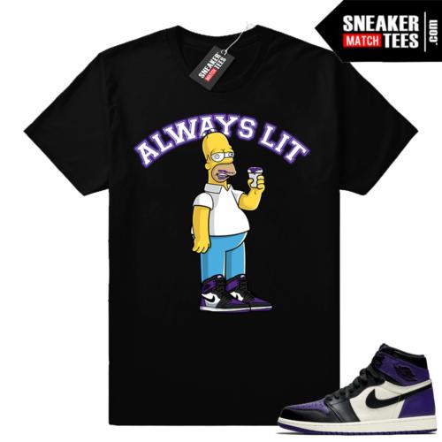 Jordan 1 Court Purple Always Lit Shirt