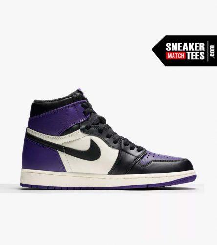 Jordan 1 Court Purple Shirts match sneakers (3)