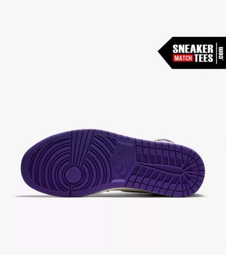 Jordan 1 Court Purple Shirts match sneakers (4)