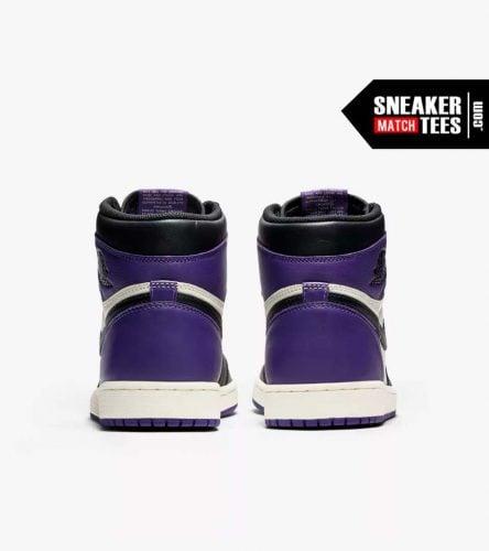 Jordan 1 Court Purple Shirts match sneakers (5)