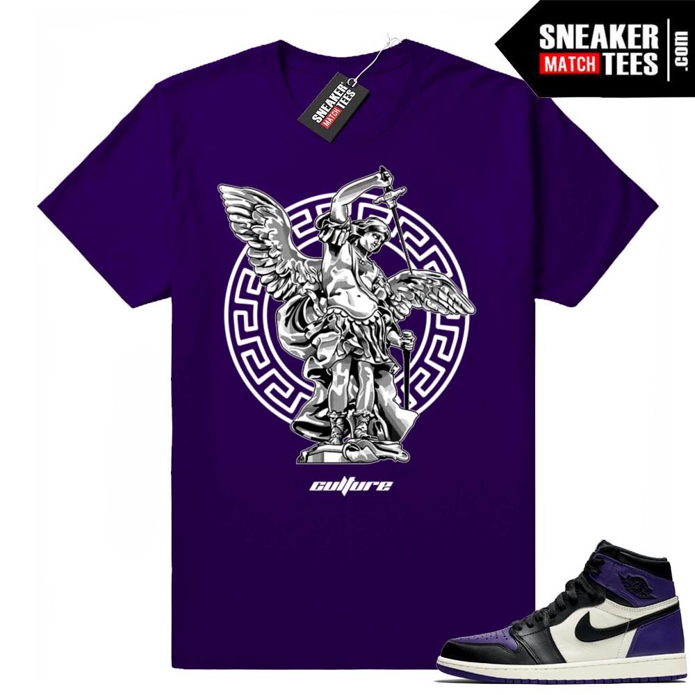 Jordan 1 Court Purple tees