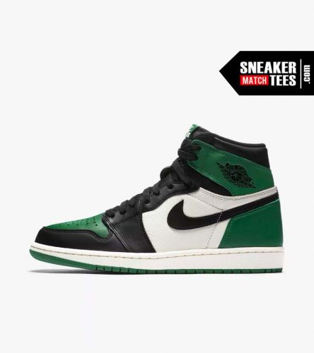 Jordan 1 Pine Green Shirts match sneakers (2)