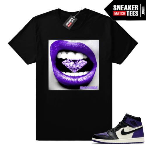 Jordan 1 sneaker tees Court Purple