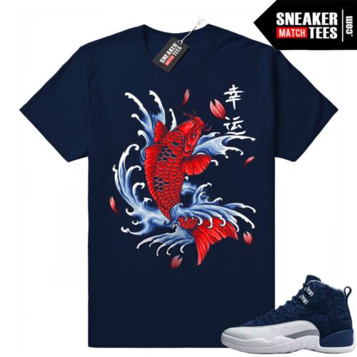 Jordan 12 Japan shirts to match