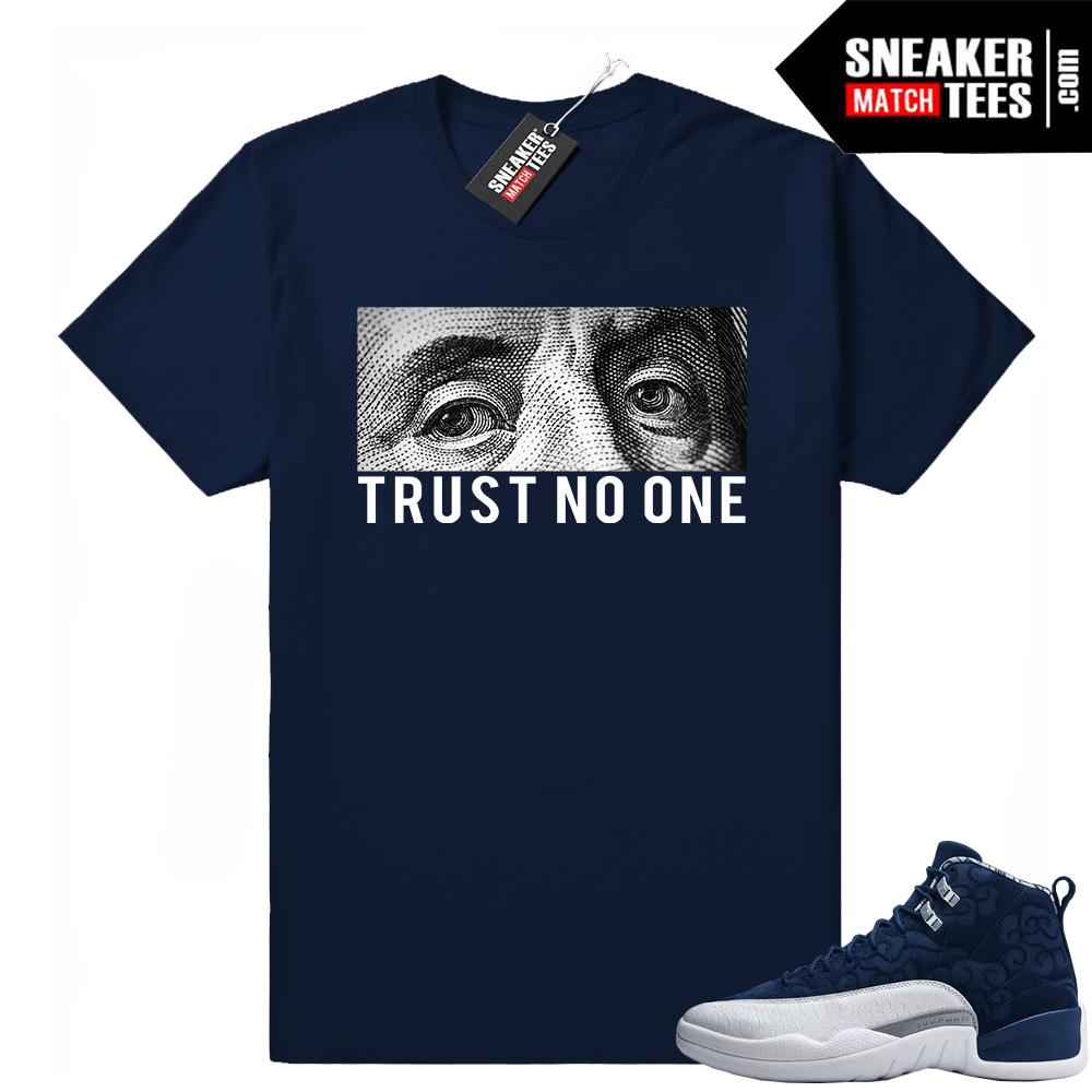 Jordan 12 sneaker shirts to match international flight
