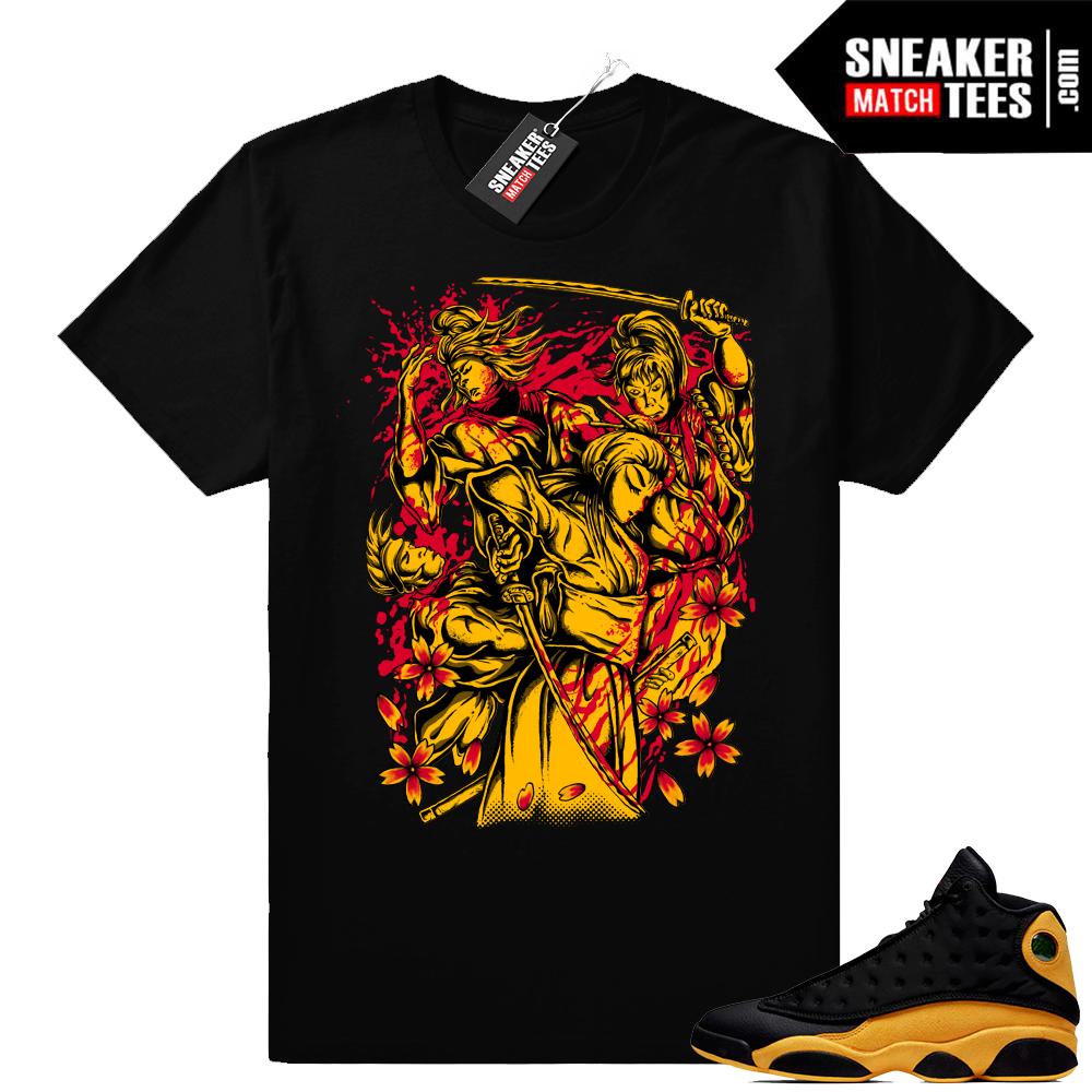 Jordan 13 Melo sneaker shirt match