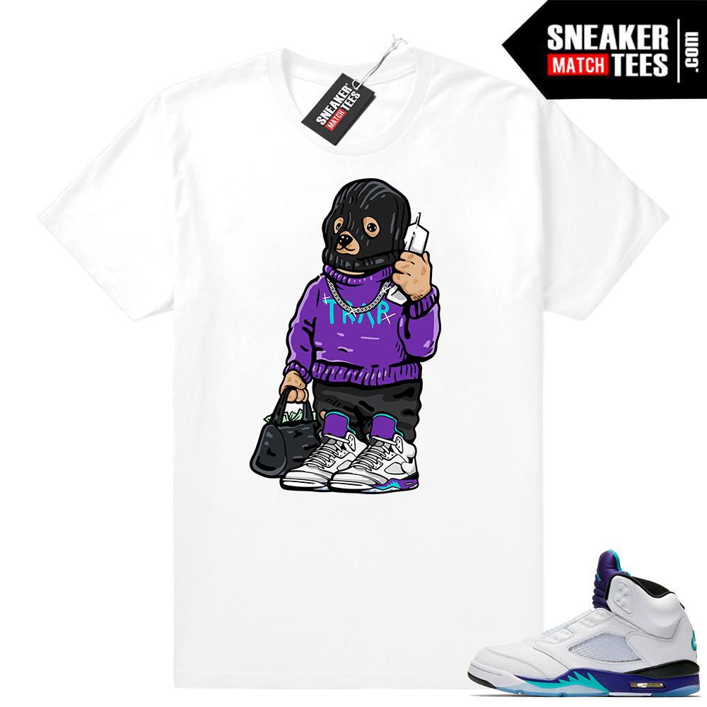 Jordan 5 Grape sneaker tees shirts