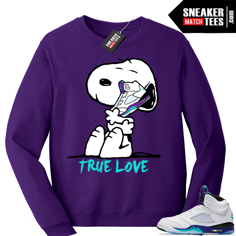 Jordan 5 Sweatshirt Grape