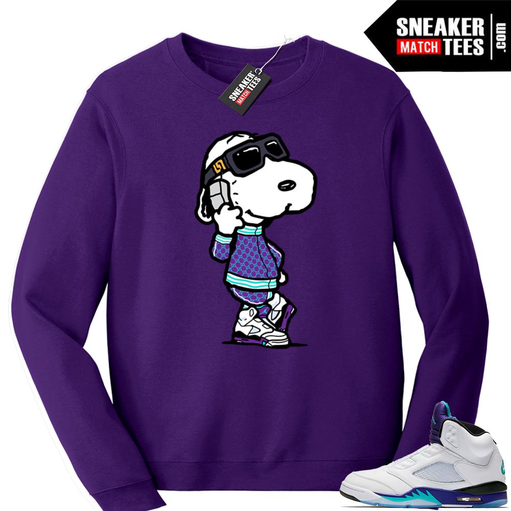 Jordan Grape Sneaker sweatshirt