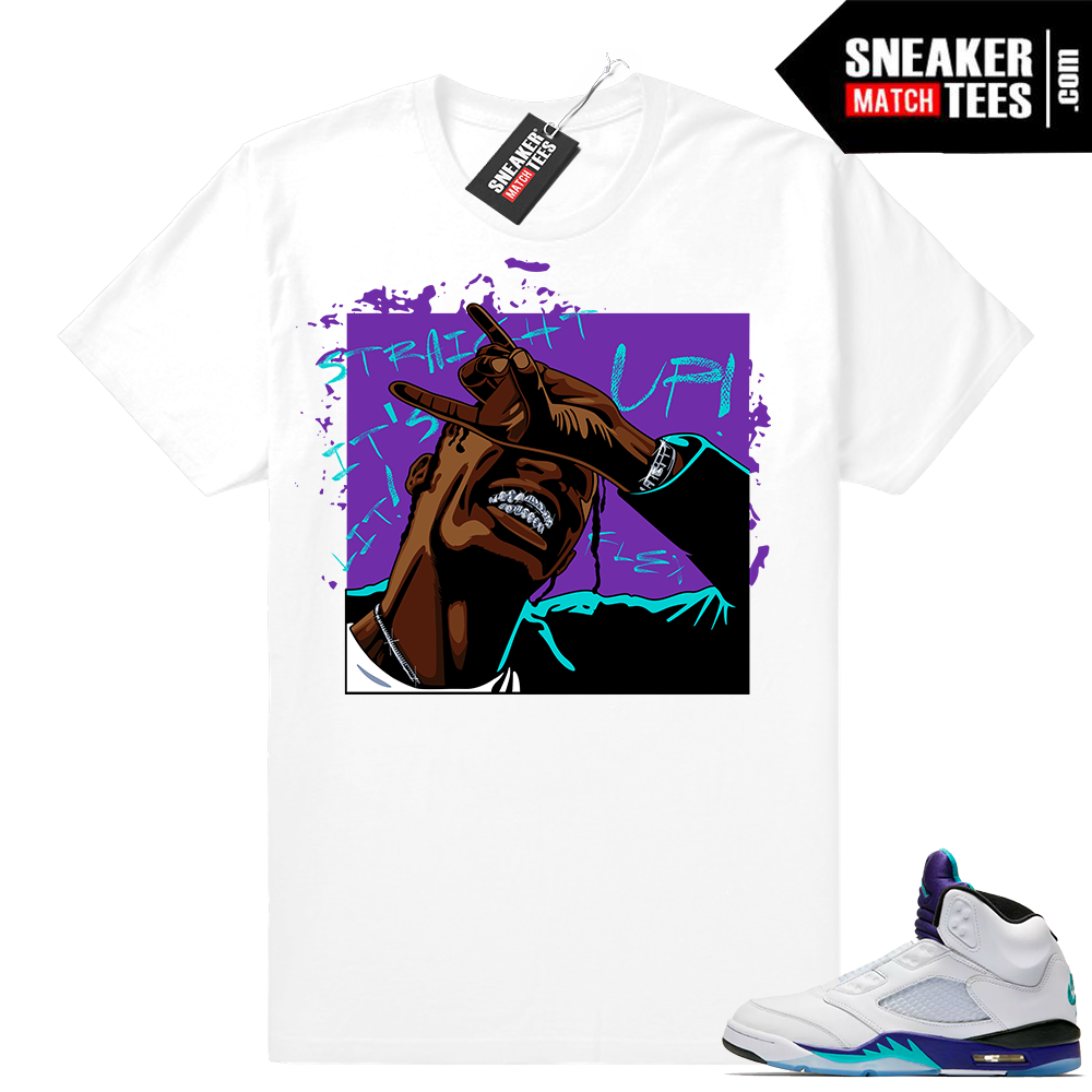 Jordan Retro 5 Grape sneaker match shirts