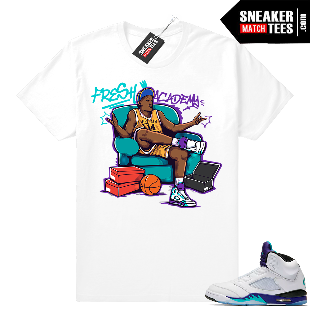 Jordan Retro 5 Grape sneaker shirts