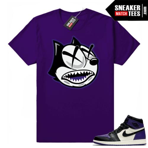 Jordan ones shirt Court Purple